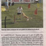 L'articolo pubblicato sul Corriere dell'Umbria per le gare del 22 giugno a Campitello.